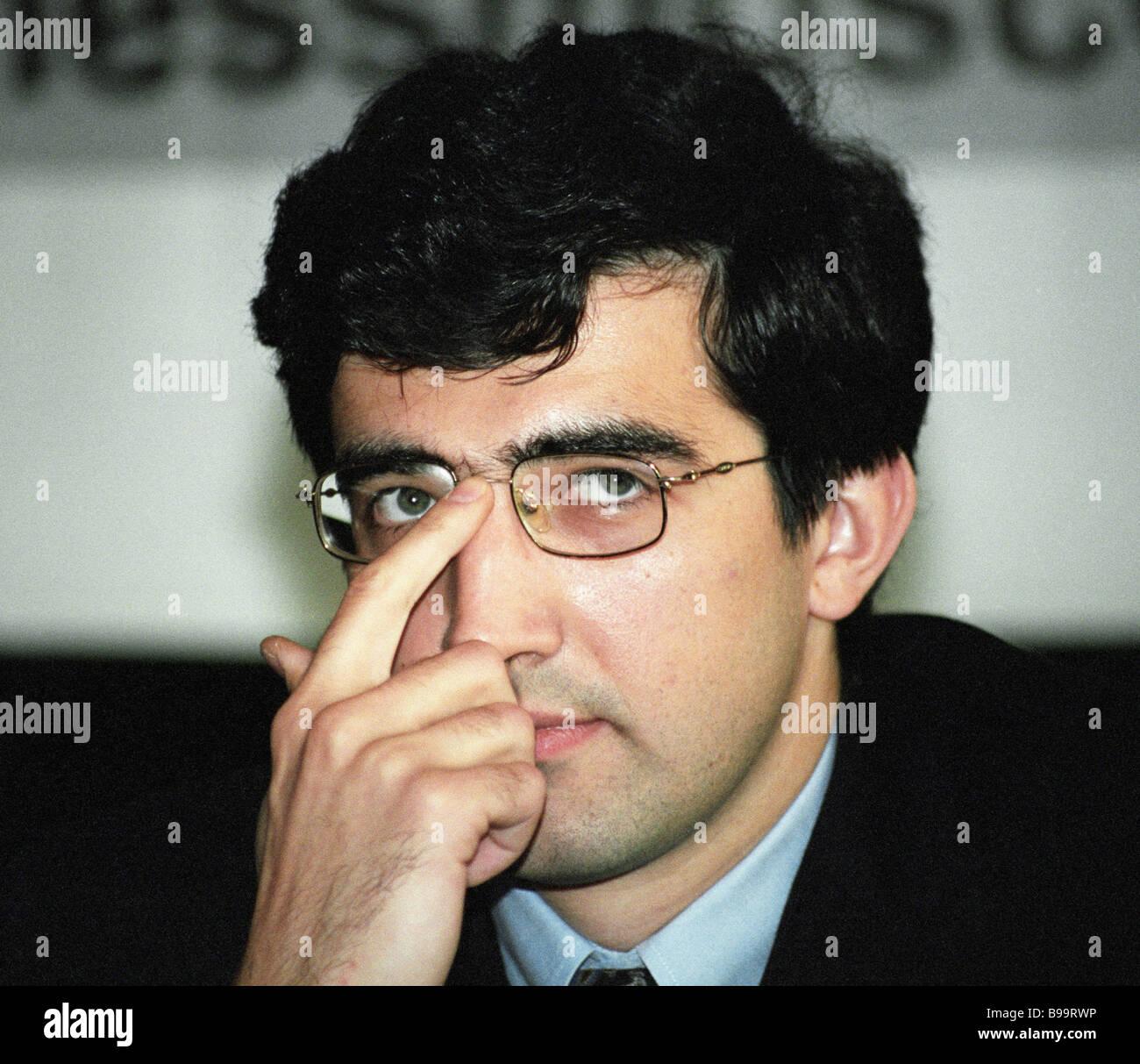 Grand Master Vladimir Kramnik Stockbild