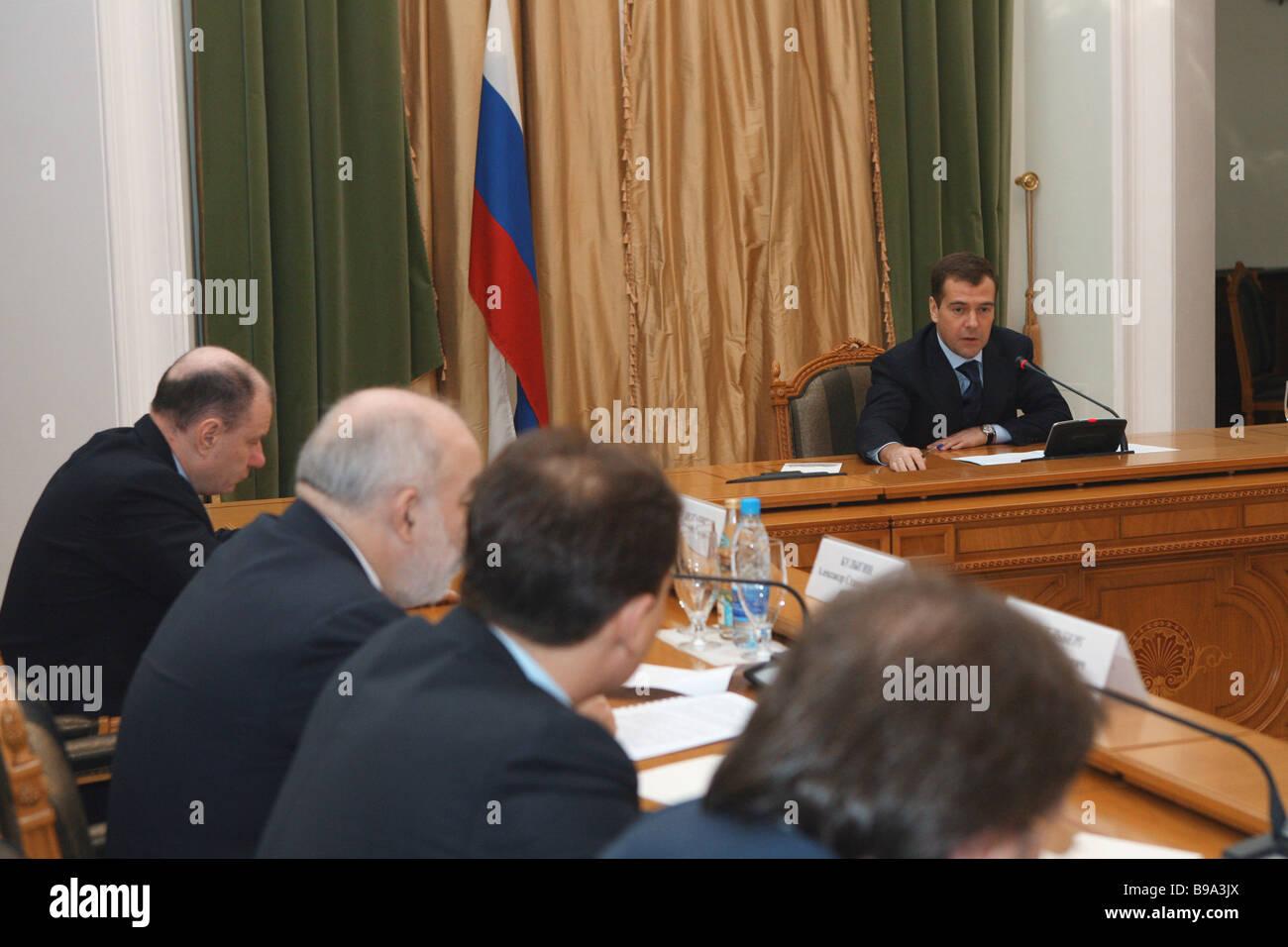Vladimir Potanin Chief Executive Officer von Interros Holding-Gesellschaft eines Russland s größte Investmentfonds Stockbild