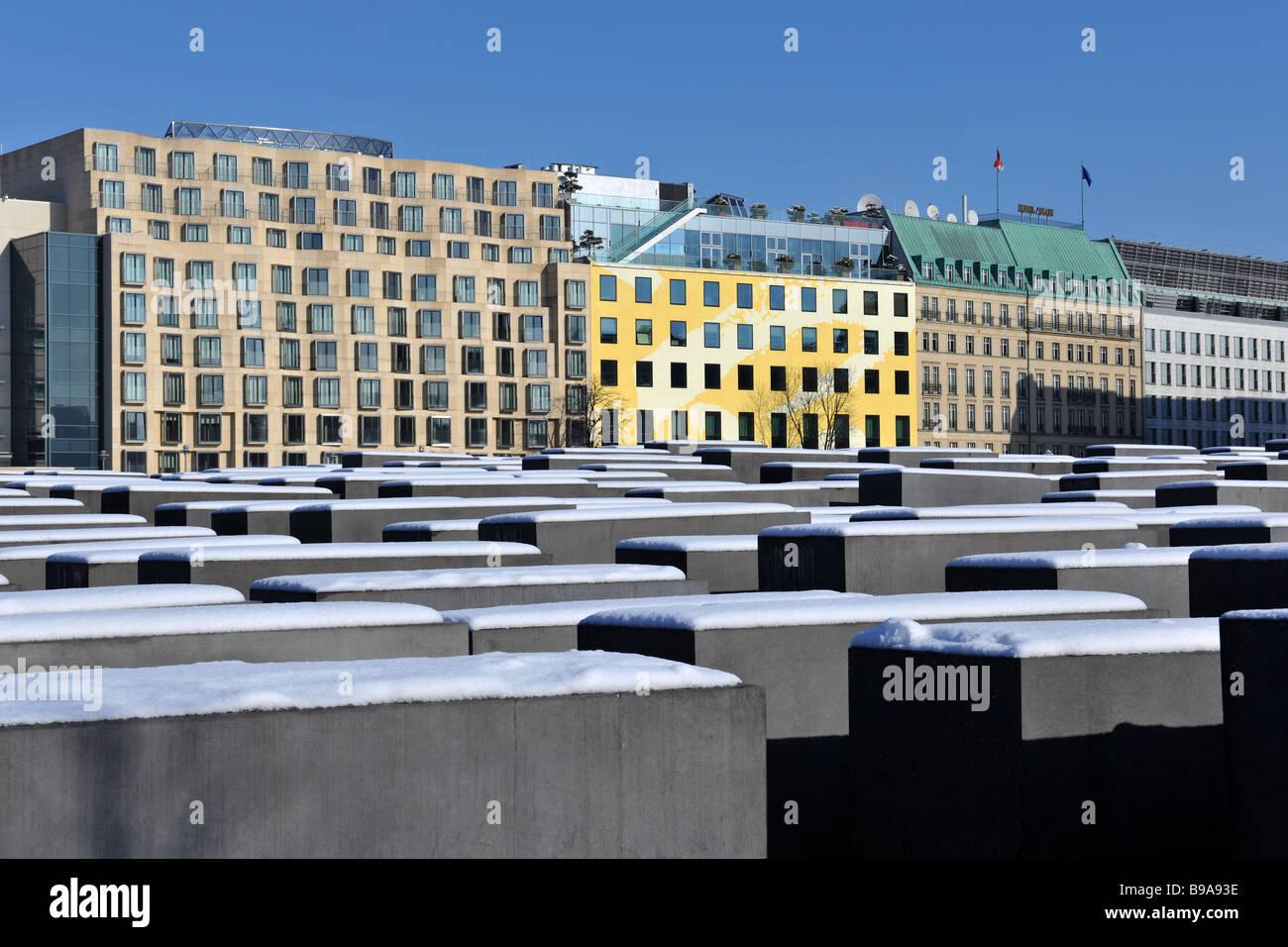 Berlin Mitte Holocaust Memorial Beton Fünfergruppe Architekten Peter Eisenmann 2009 Stockbild