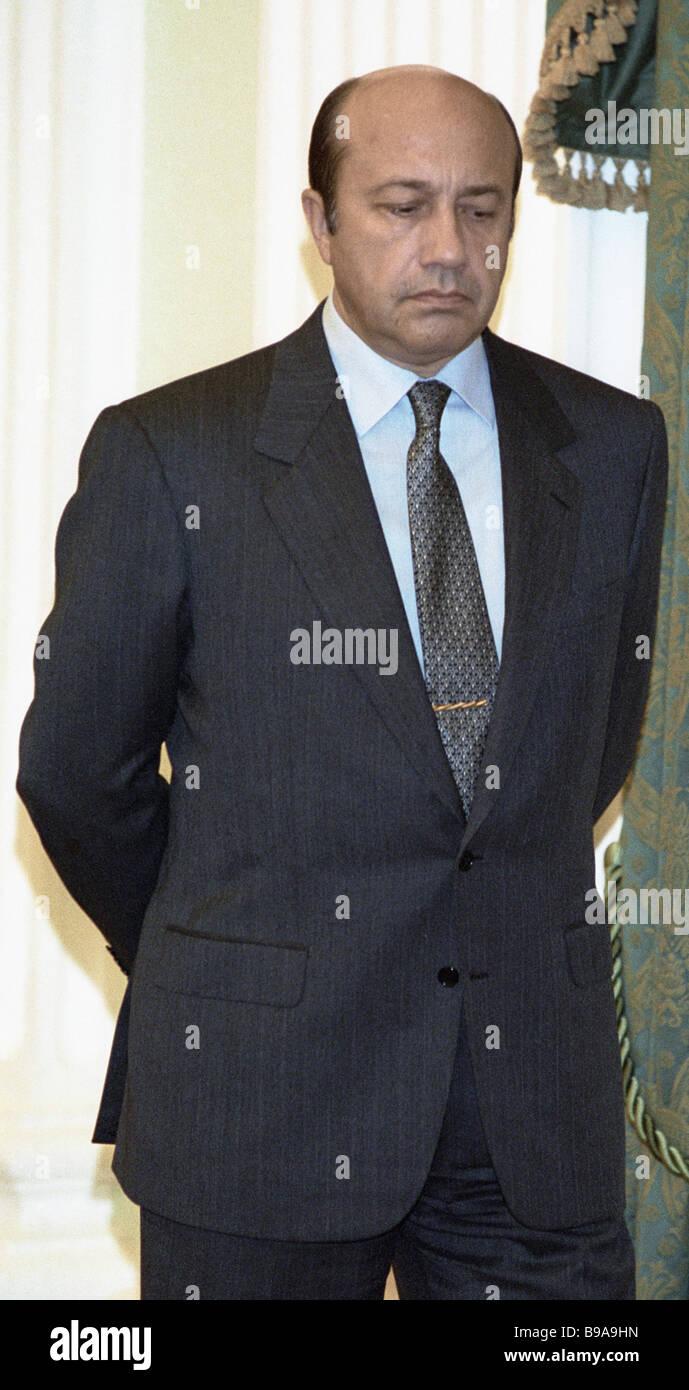 Der russische Außenminister Igor Ivanov Stockbild