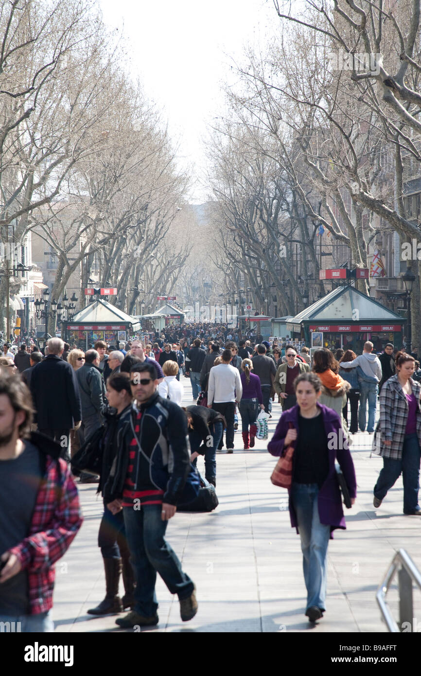 La Rambla, Barcelona-Spanien Stockbild