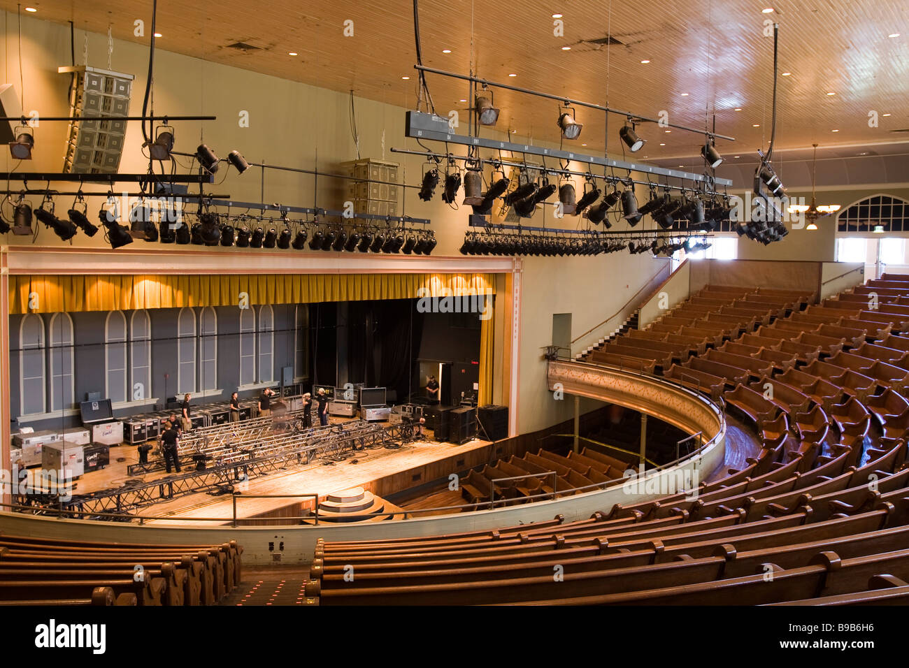 Sitze Und Buhne Im Ryman Auditorium Ehemaligen Haus Der Grand Ole