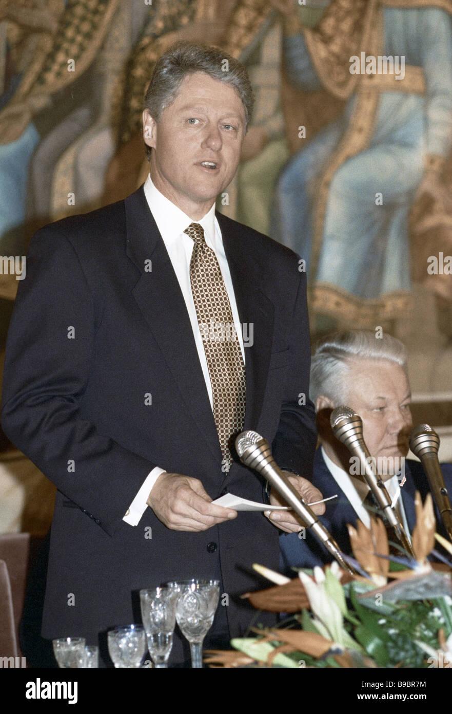 US-Präsident Bill Clinton Stockbild