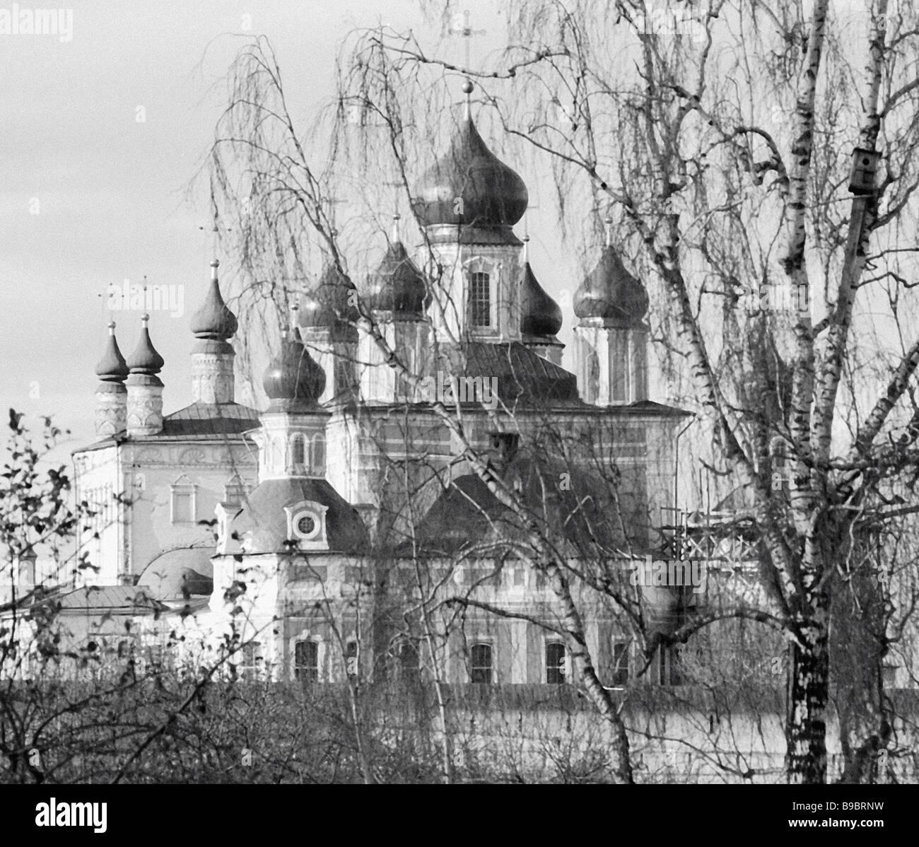 Goritsa Kloster ist ein Beispiel der Architektur des 14. Jahrhunderts Stockbild