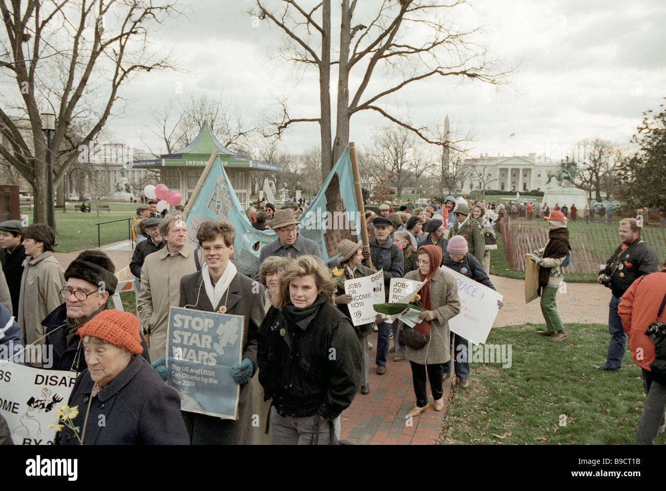 Washington-Bewohner, die Mobilisierung gegen den Krieg Stockbild