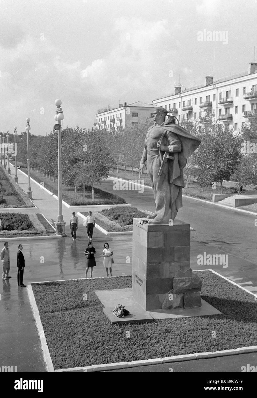 Ein Denkmal für die unbekannte Seemann in Noworossijsk Stockbild