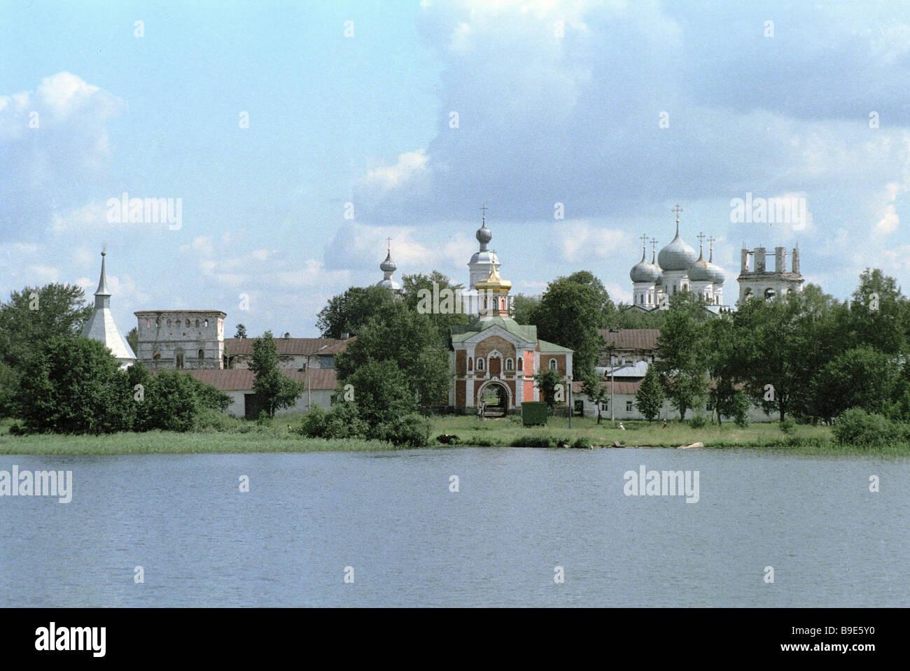Das Iversky Kloster 16 18 Jahrhundert Valdai Stockbild