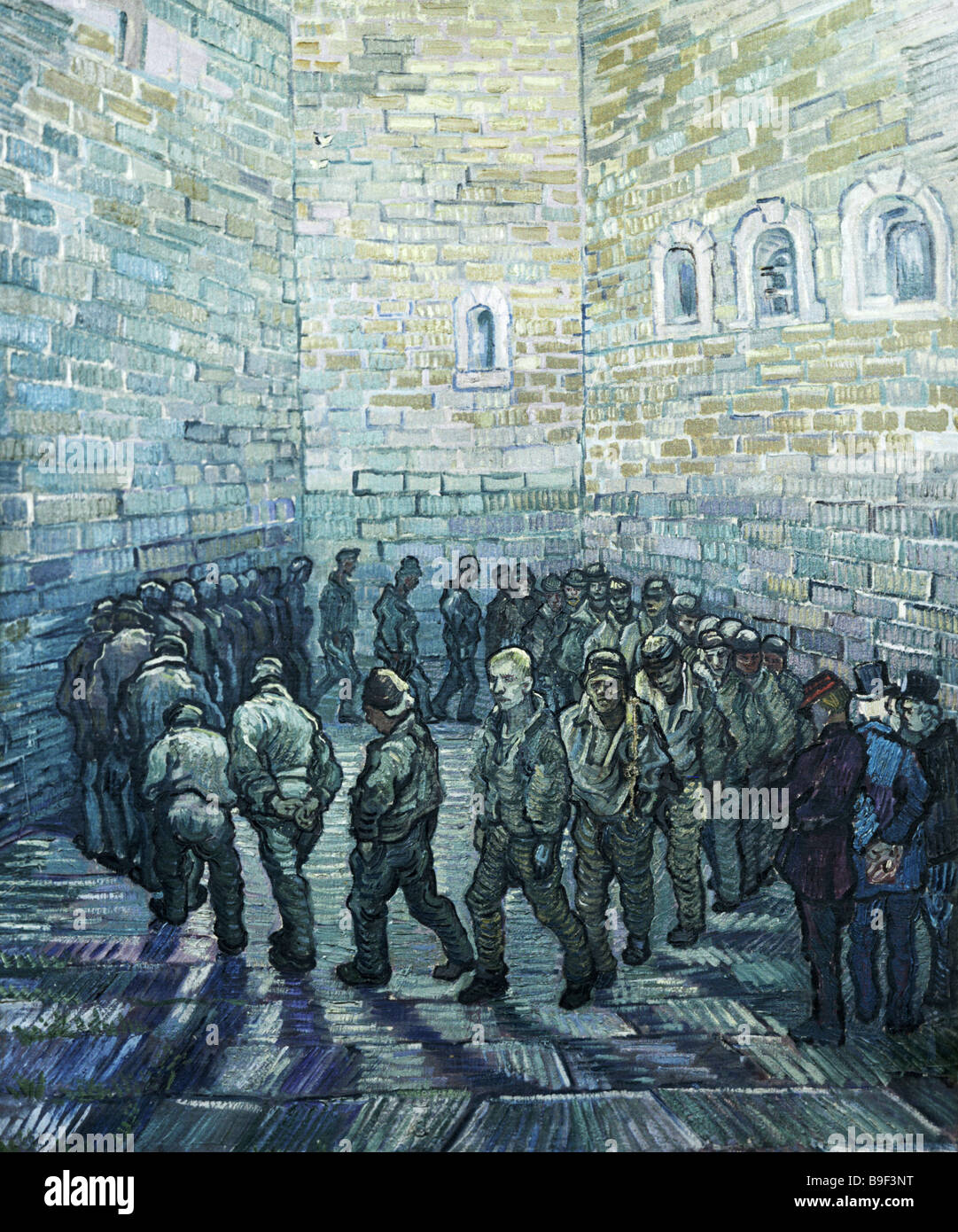 Das Gefängnis Courtyard by Vincent Van Gogh 1889 Reproduktion Sammlung des staatlichen Puschkin Museum der bildenden Stockfoto