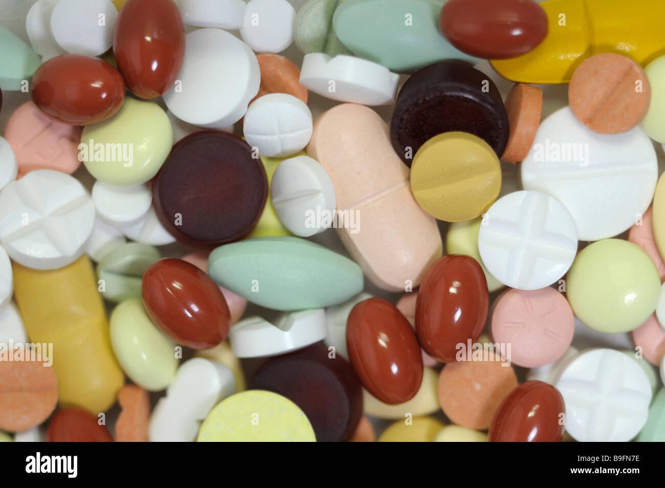 Bunte Tabletten Stockbild