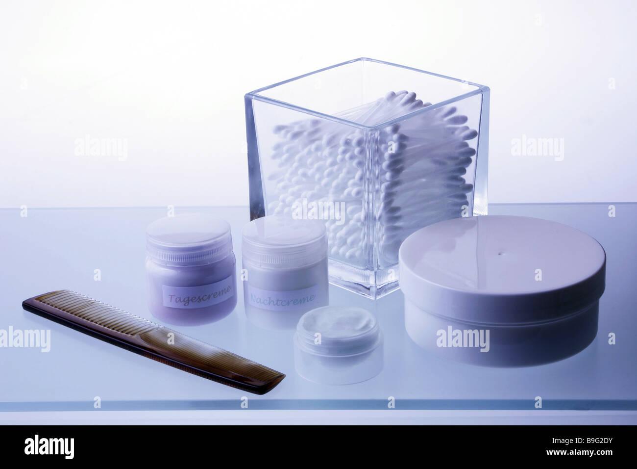Badezimmer Lagerung Platz Kosmetik-Artikel Creme-Töpfe Kamm Watte ...