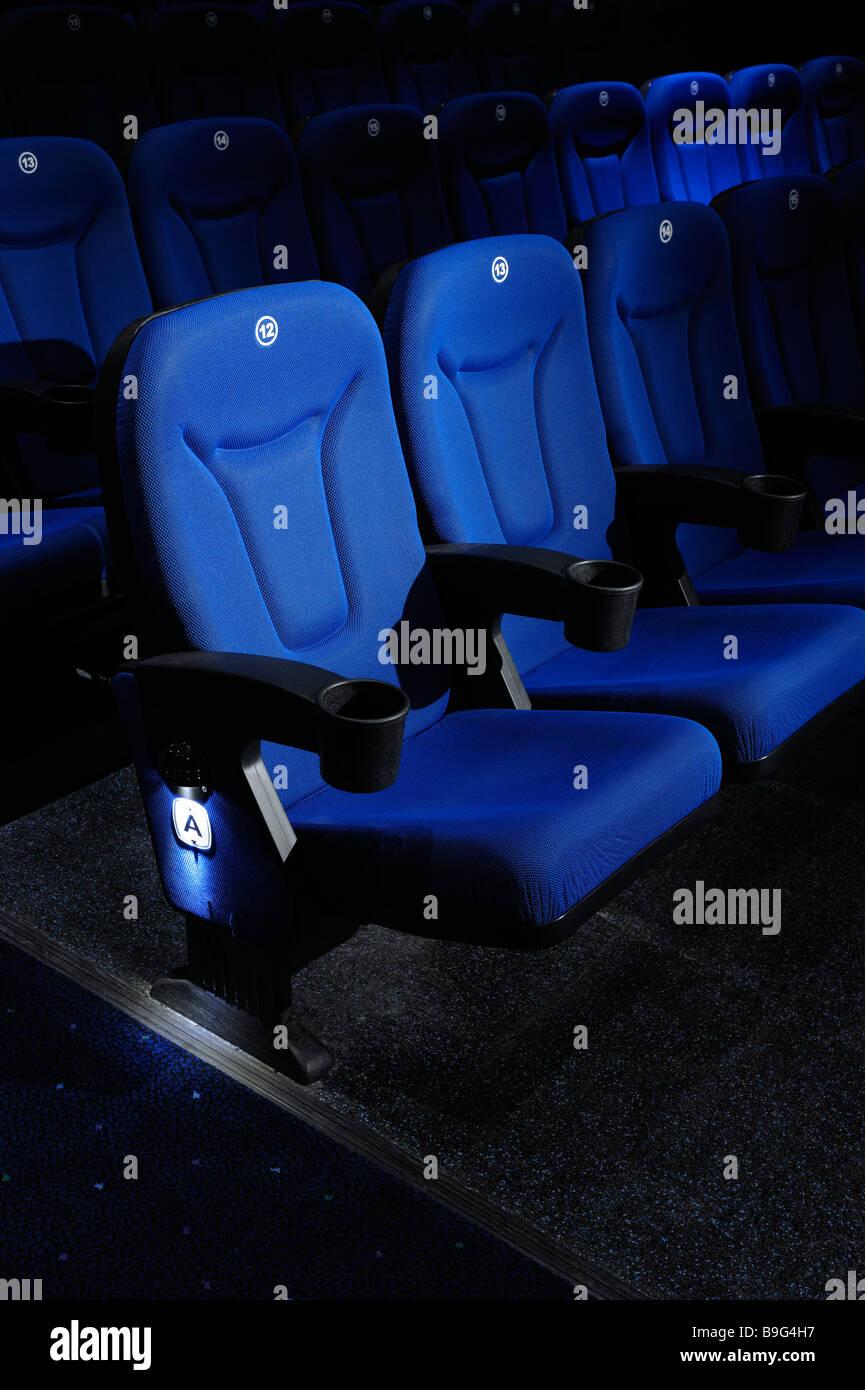 Kinobestuhlung Stockbild