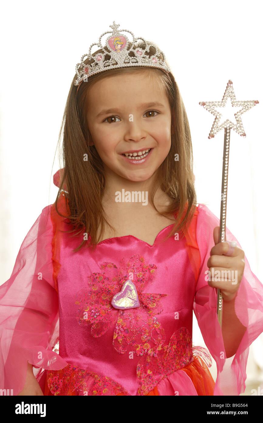 Madchen Verkleidung Prinzessin Lacht Semi Portrat Serie Menschen