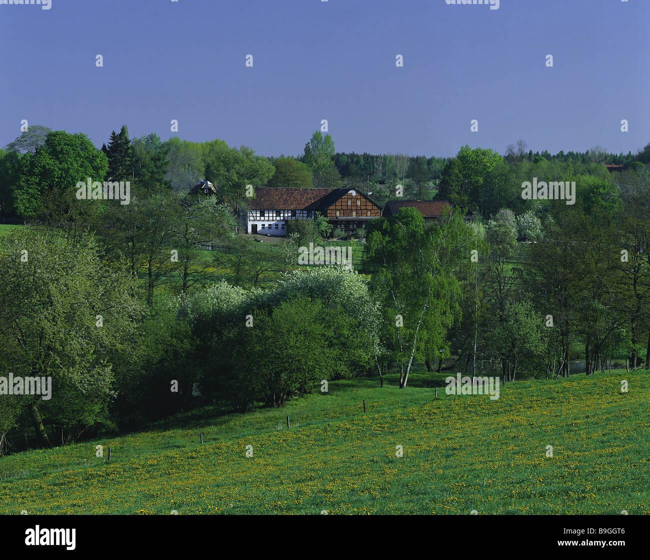 Deutschland Sachsen Constable-Land Plauen Hof Sommer Landschaft Wald ...