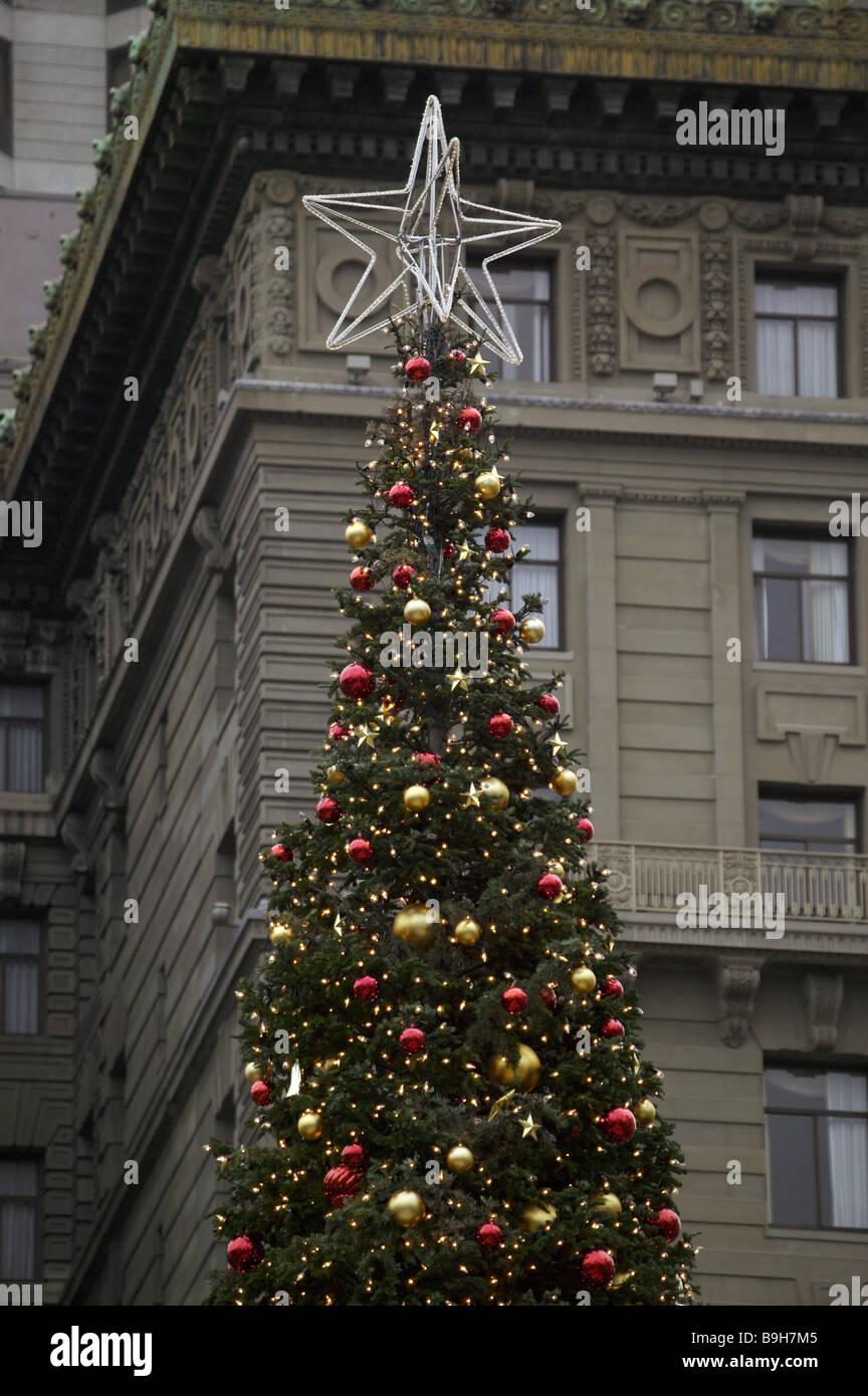 USA California San Francisco Weihnachtsbaum Detail Nordamerika Stadt ...