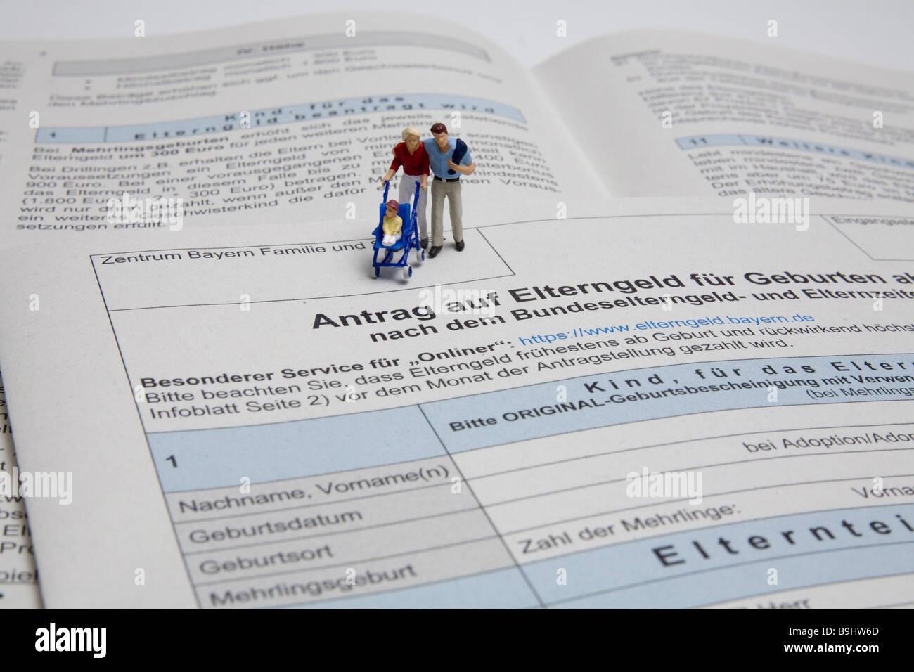 Formular Angebot Eltern Geld Spielfiguren Familie Detail Dokument