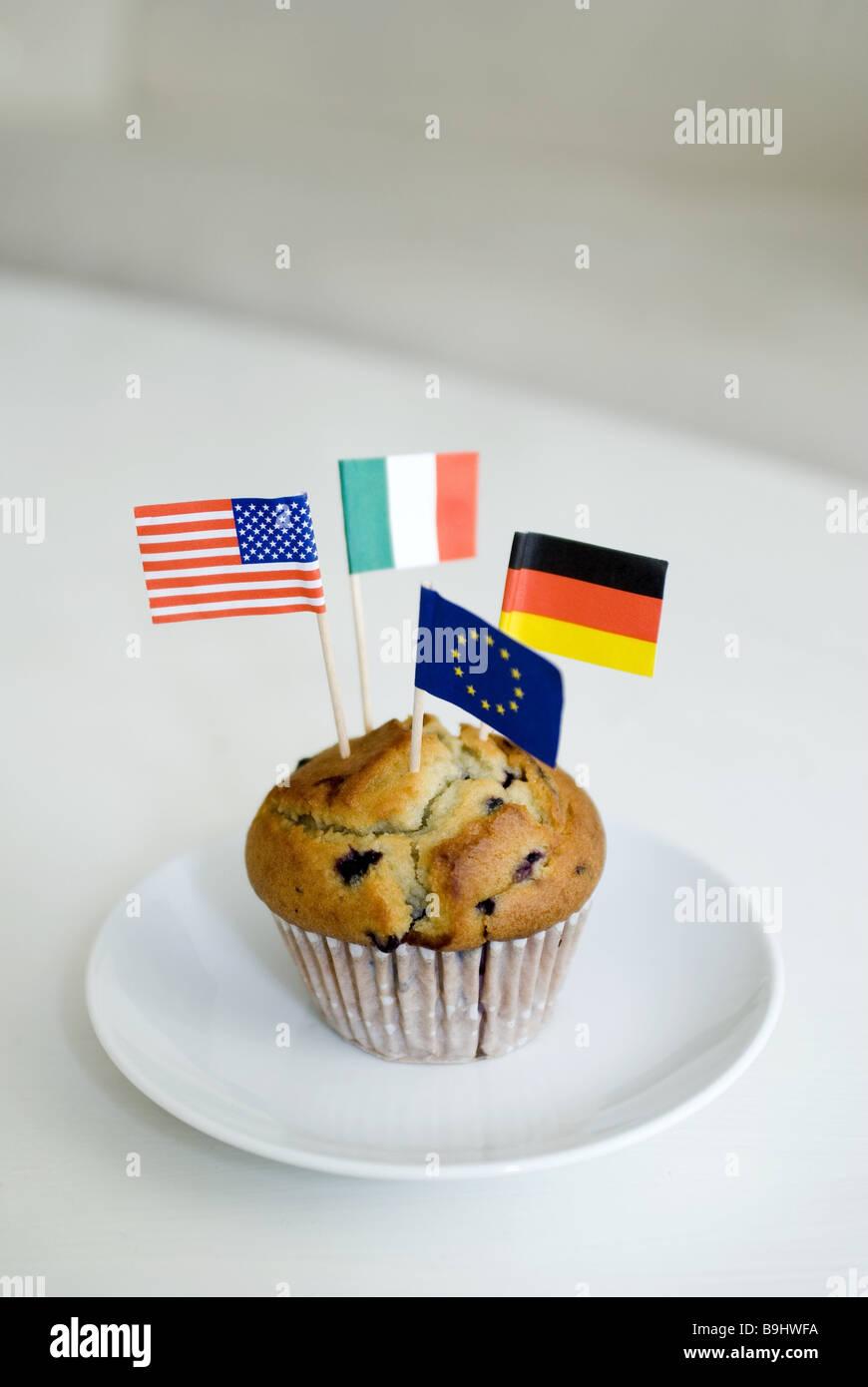 Muffin Platten Deutschland Flaggen Italien Fahnen Amerika Flaggen