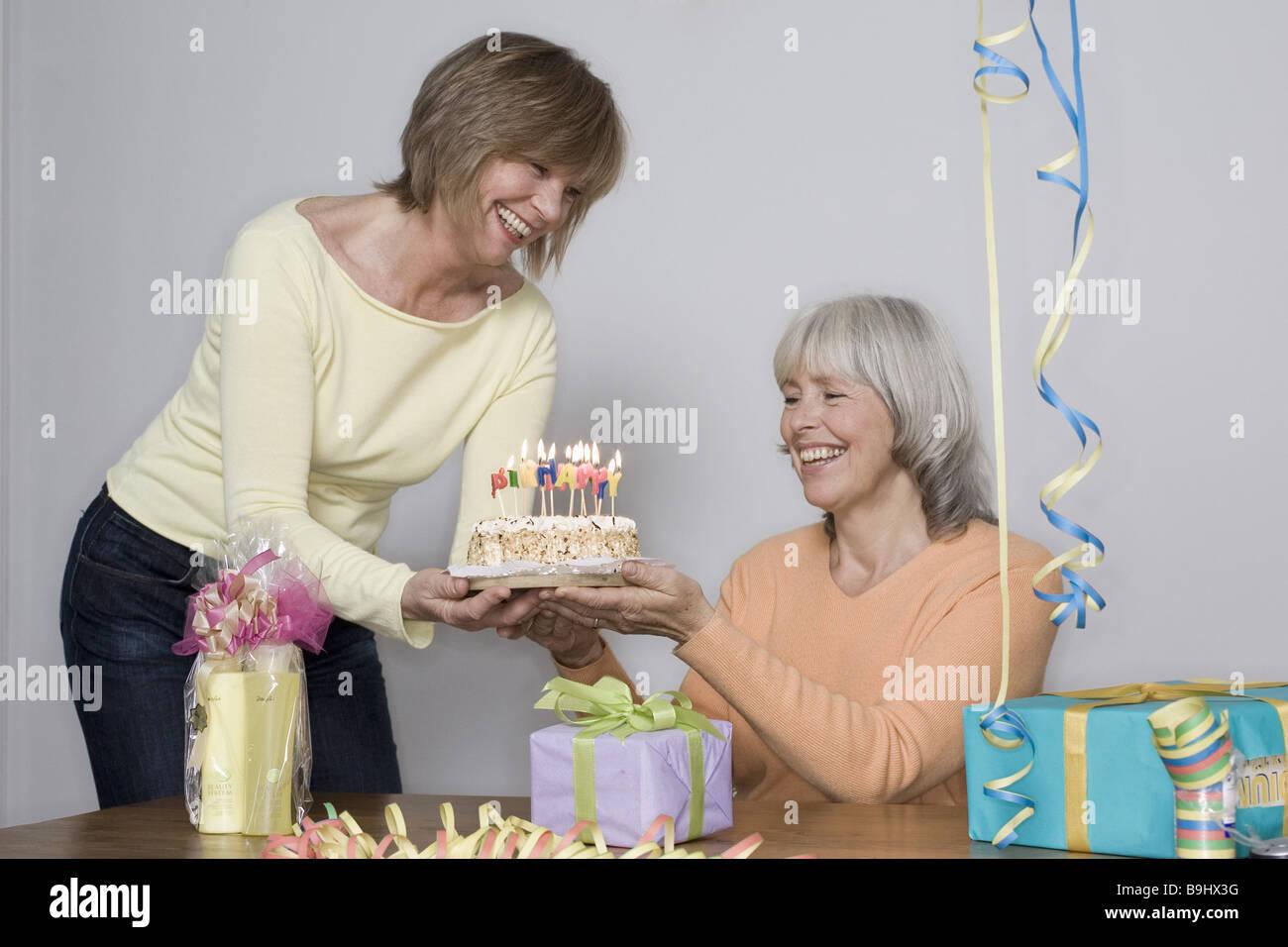 Senior Geburtstag Frau Pie Detail Serie Menschen Frohlich Senioren