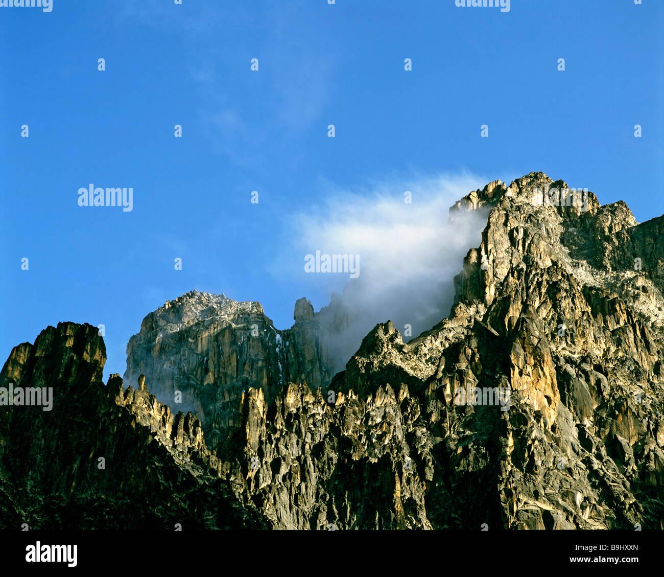 Mount Kenia, Kenia, Zentralafrika Stockbild