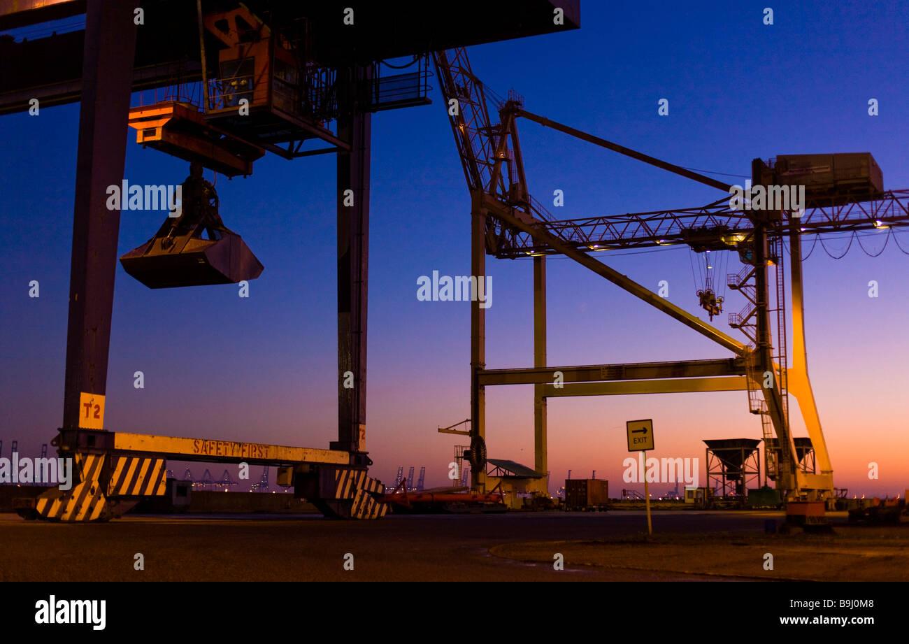 Harwich Hafen im Morgengrauen, England, Großbritannien, Europa Stockbild