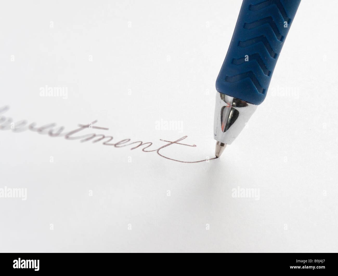 Stift und Papier Stockbild