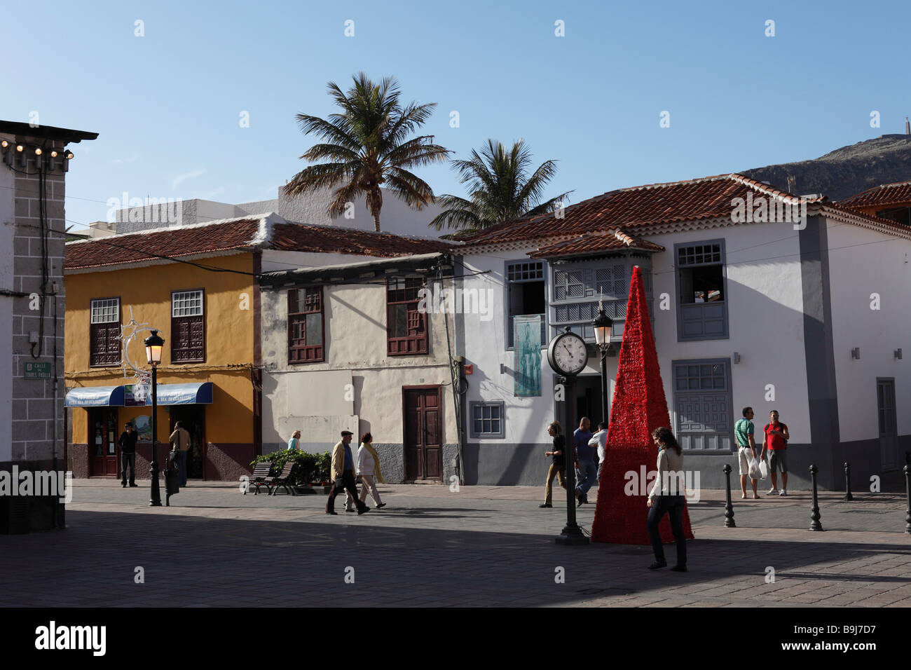 Calle del Medio, Altstadt, San Sebastián De La Gomera, Kanarische Inseln, Spanien, Europa Stockbild