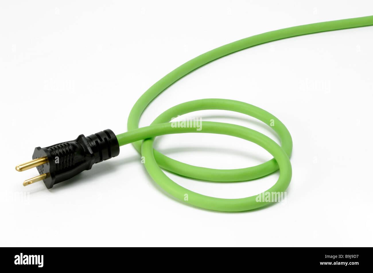 Am Ende schließen Sie Abschnitt eine grüne elektrische Strom ...