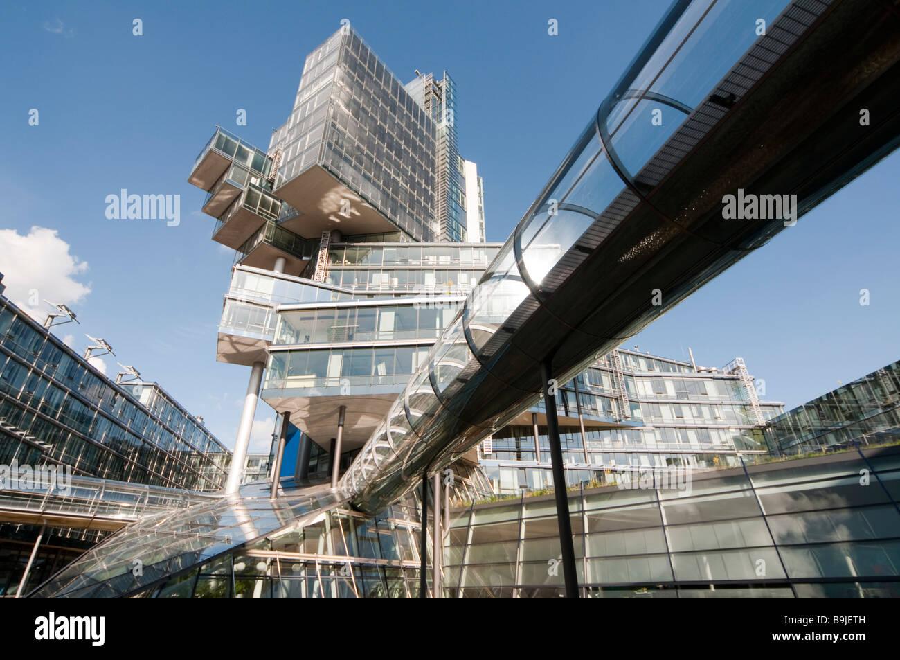 Modernes Verwaltungsgebäude der NORD LB Hannover Niedersachsen Deutschland Hannover modernes Gebäude der Stockbild