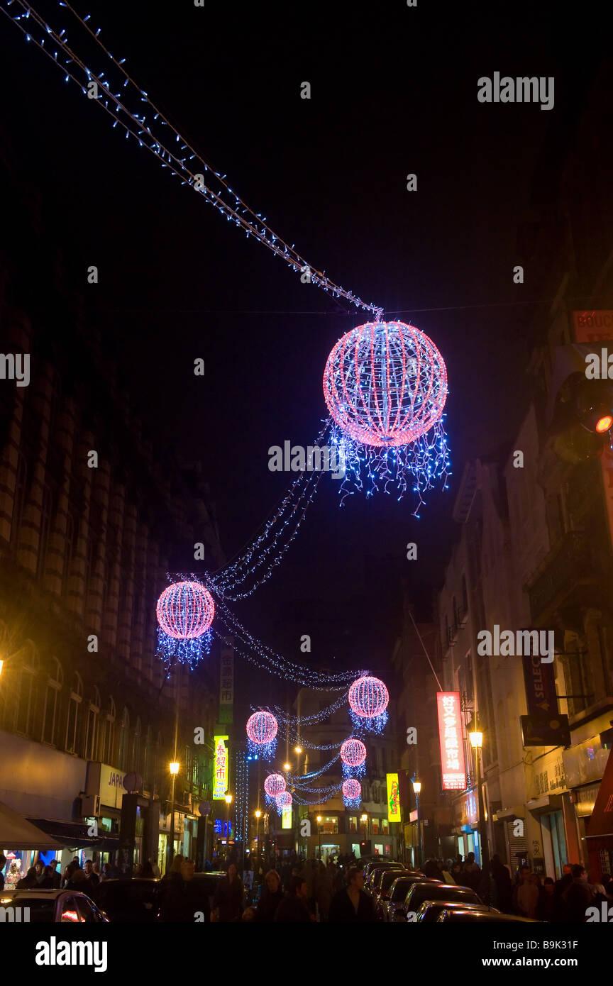 Weihnachtsbeleuchtung Brüssel-Brabant-Belgien Stockbild