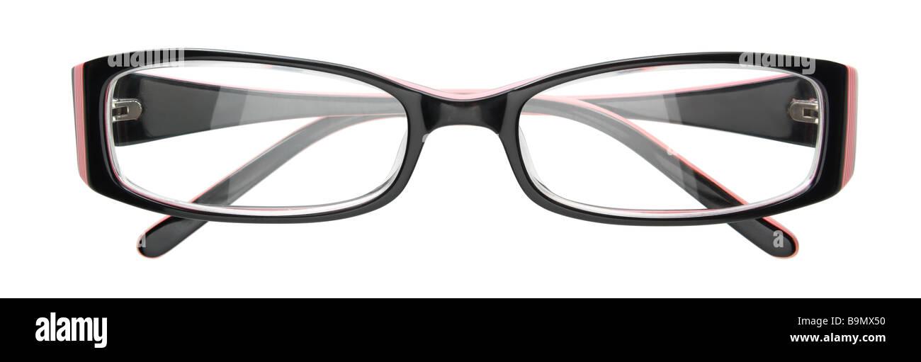 Schwarzer Rahmen Brillen isoliert auf weiss Stockfoto, Bild ...
