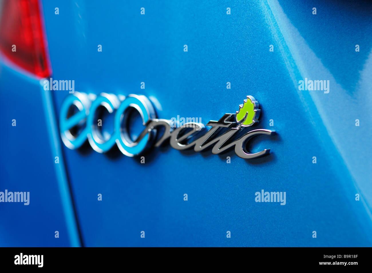ECOnetic. Der Name des Modells zum Ford Palette von grüne Autos für die niedrigsten CO2-Emissionen entwickelt Stockbild