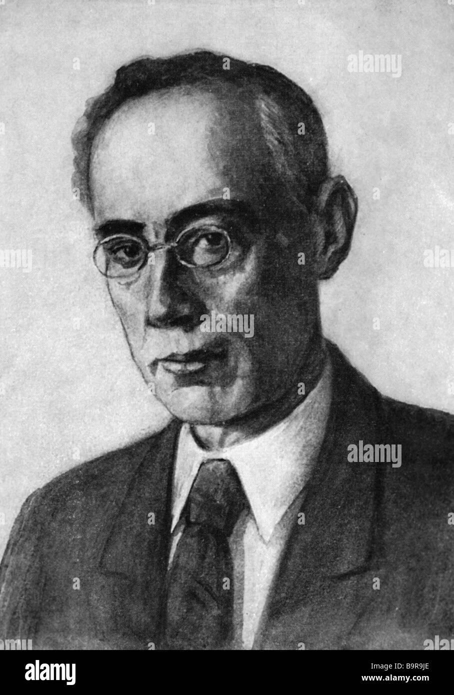 Schriftsteller und einer der Pioniere der sowjetischen Science Fiction Alexander Belyaev 1884 1942 Stockbild