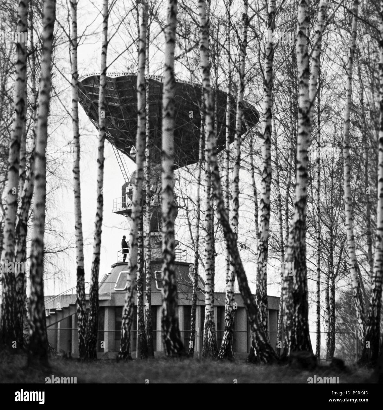 Nowosibirsk-Boden basierte Empfänger Orbita Stockbild