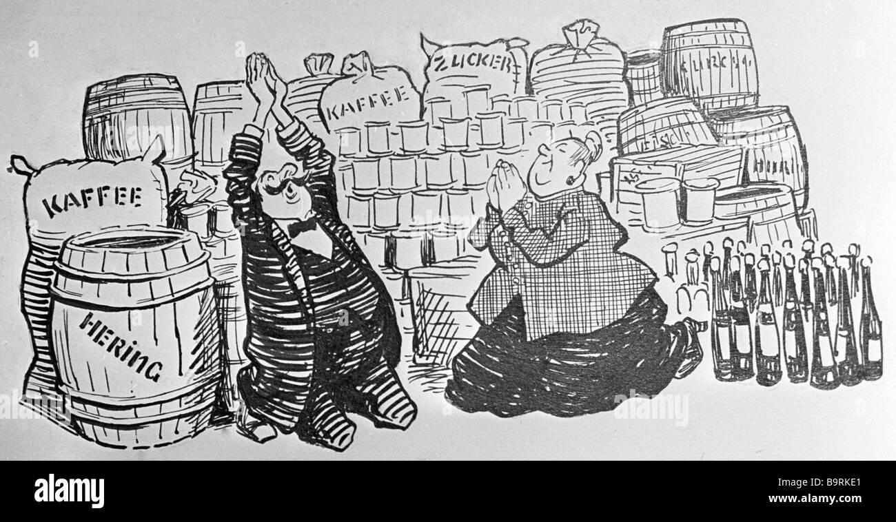 Reproduktion von Yevgeny Vedernikov s Illustrationen, Jaroslav Hasek s Kurzgeschichte Stockbild