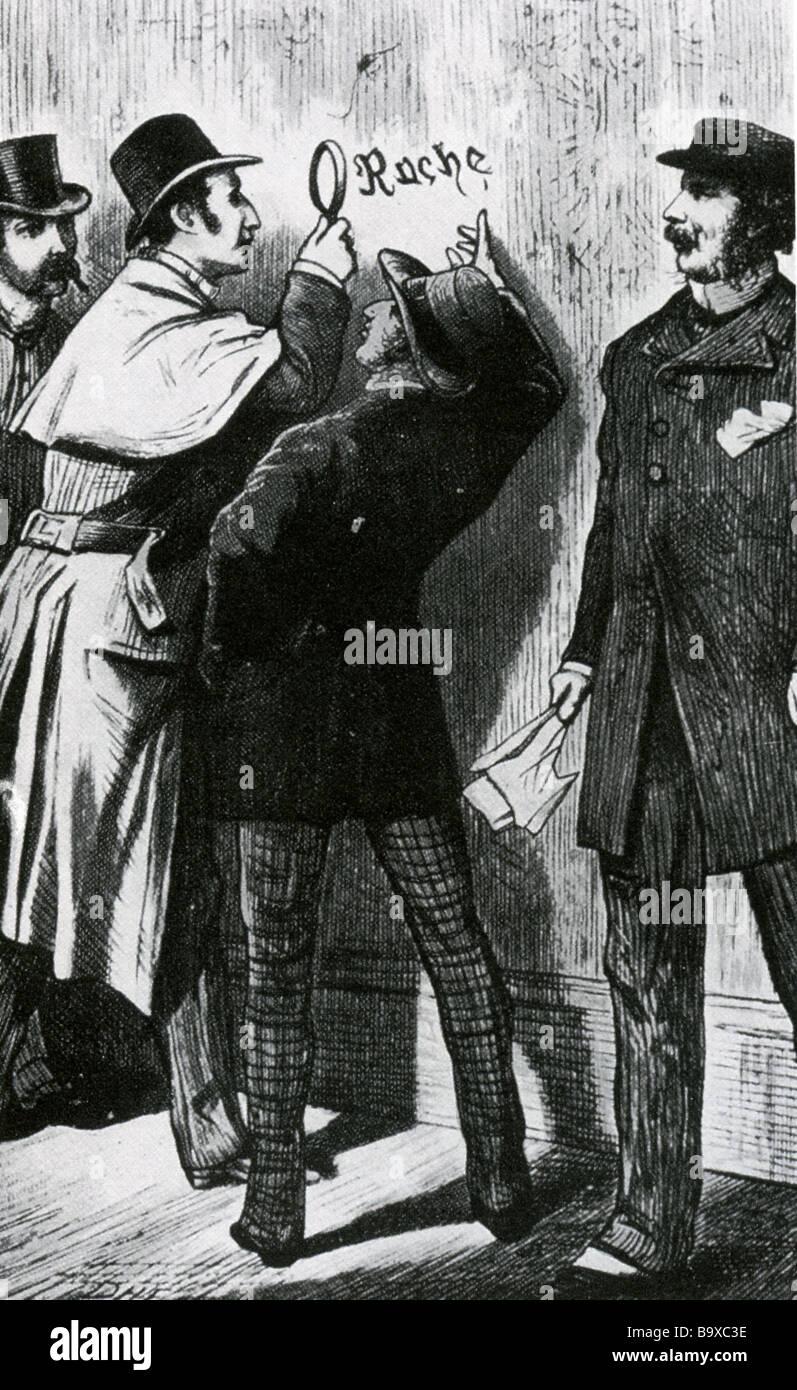 SHERLOCK HOLMES war die erste Zeichnung von Holmes durch D H Friston ...