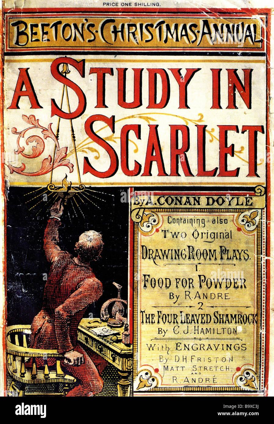 SHERLOCK HOLMES A STUDY IN SCARLET - das erste Magazin-Cover wurde ...