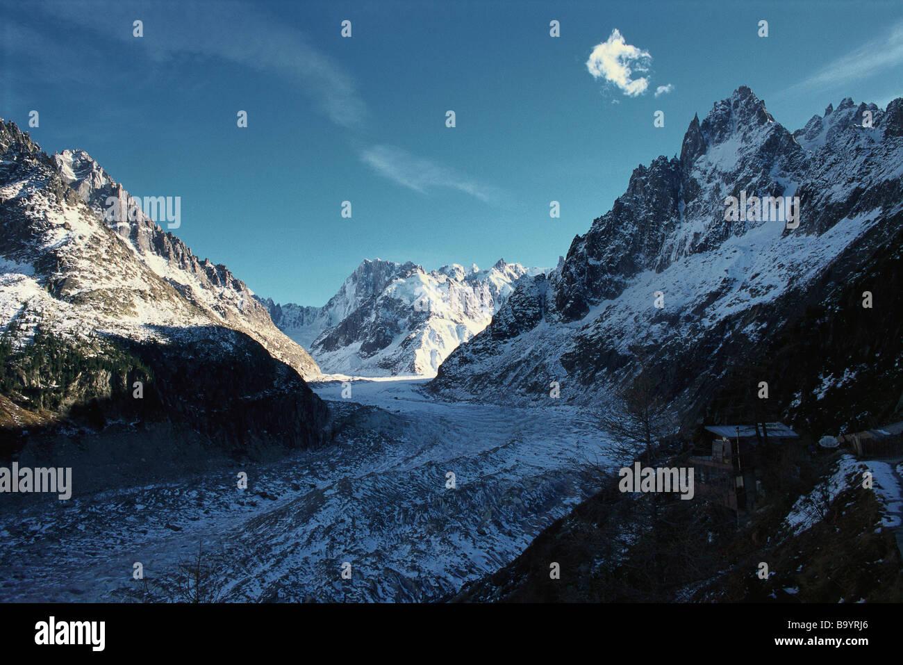 Mont-Blanc-Massiv Stockbild