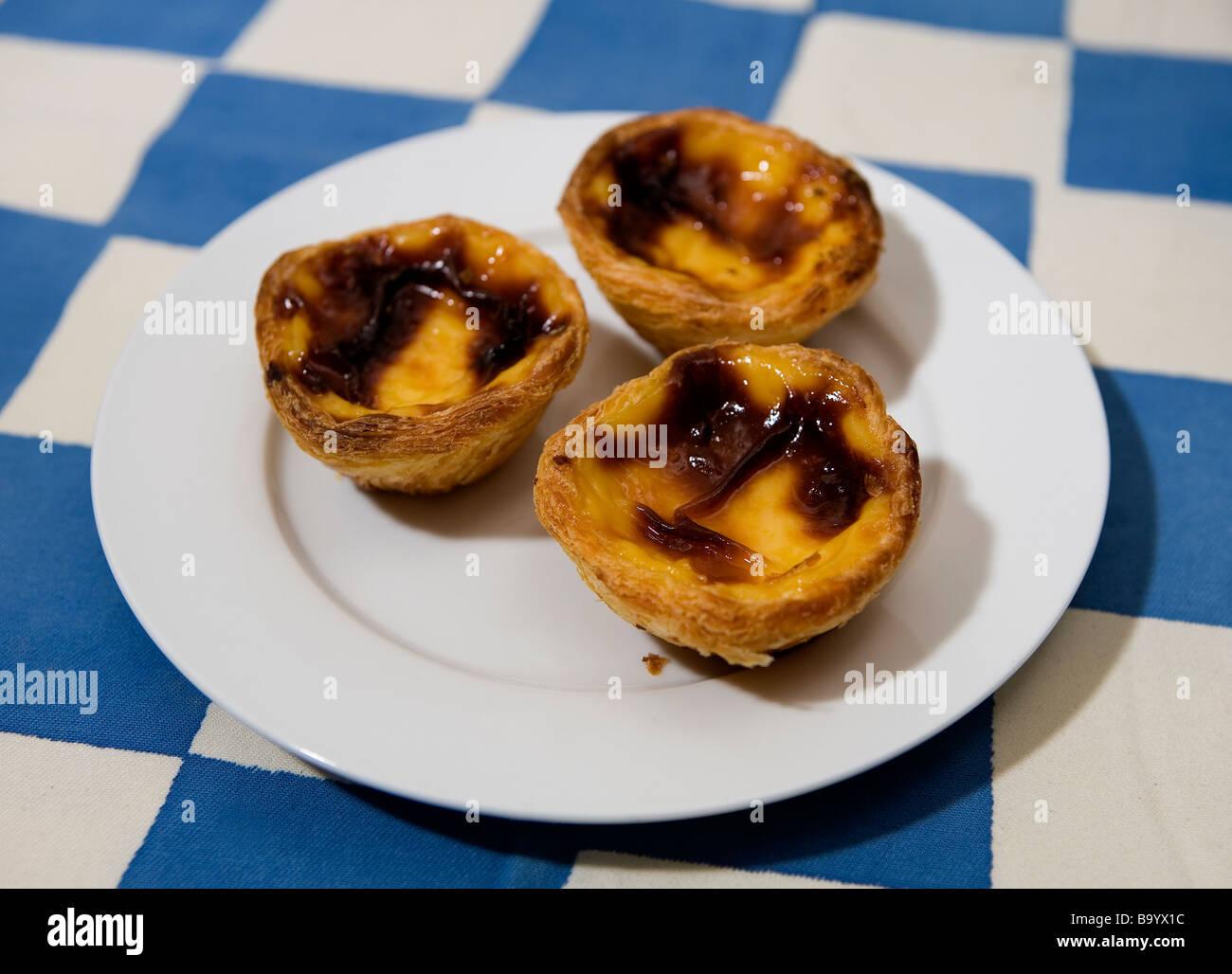 Portugiesischer Pudding Kuchen Stockfoto Bild 23355400 Alamy