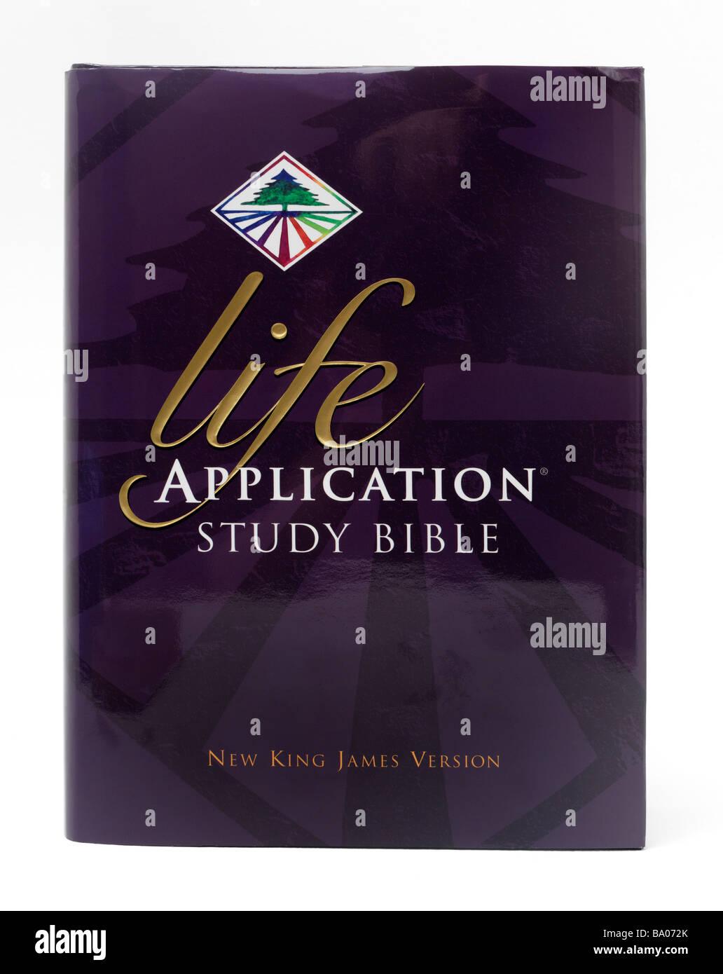 Studieren der Bibel Leben Anwendung New King James Version Stockbild