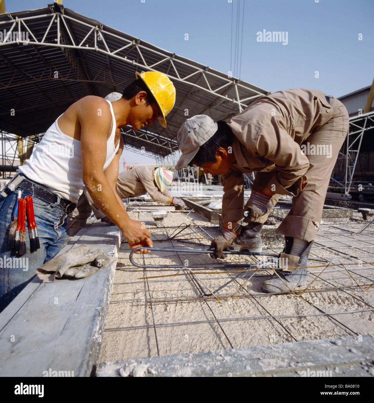 Saudi Arabien Mabco Bauarbeiter Website Stockbild