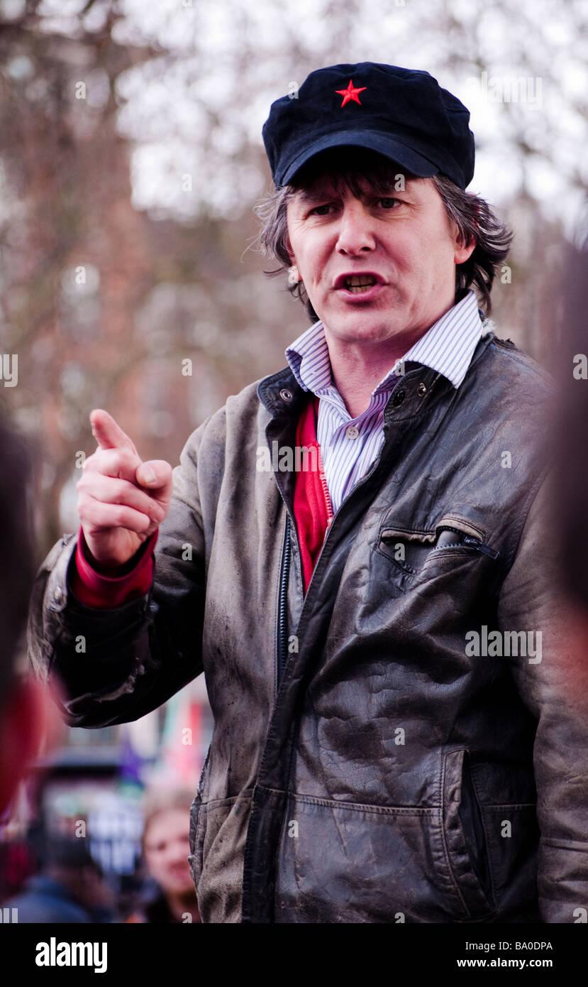 Demonstrant bei Speakers' Corner Stockbild