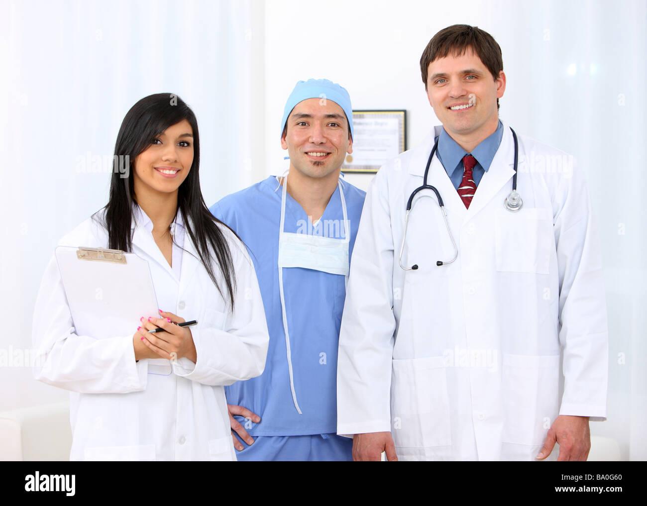 Pflegepersonal Gruppenportrait Stockbild
