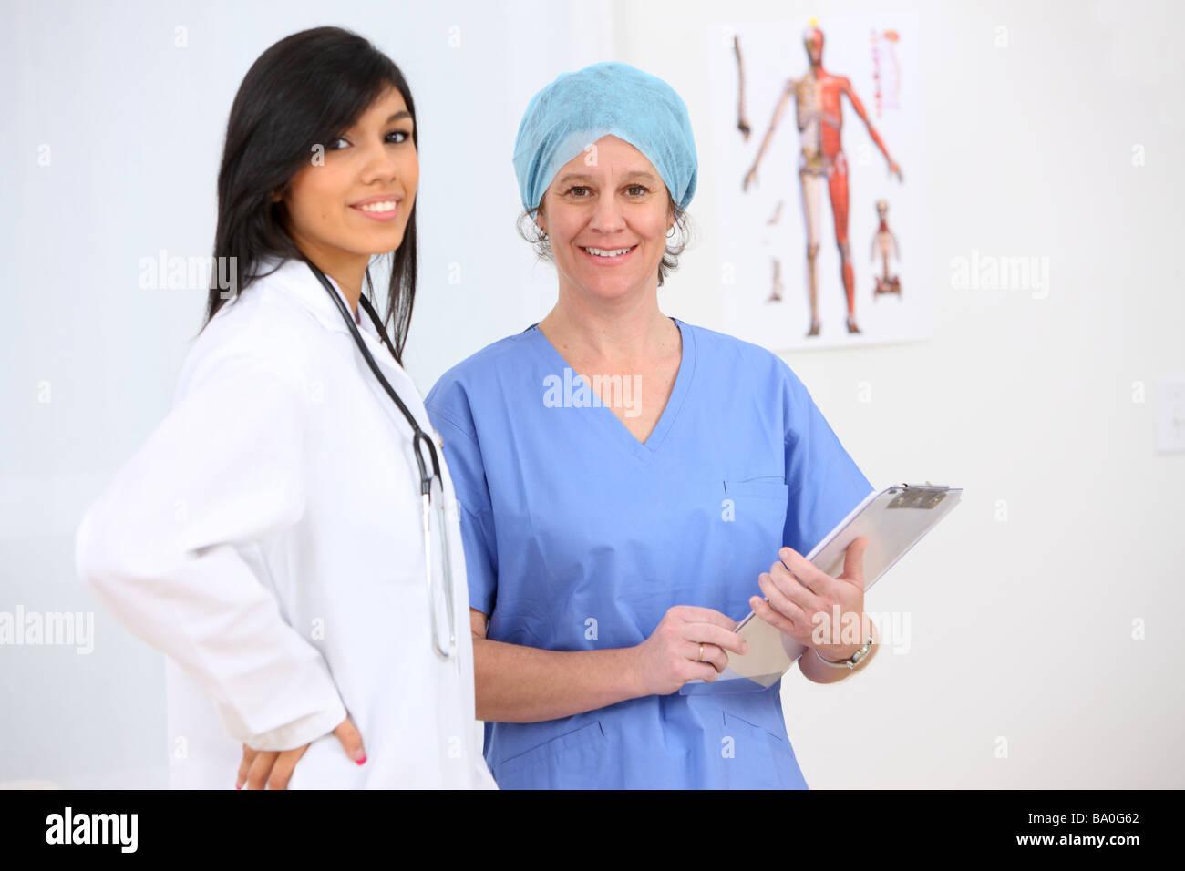 Medizinisches Personal Porträt Stockbild