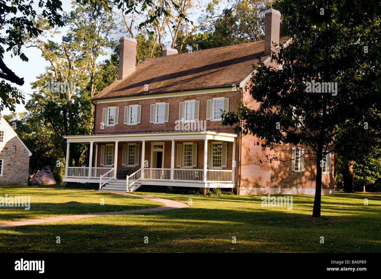 Locust Grove, Heimat von George Rogers Clark in Louisville, Kentucky Stockbild