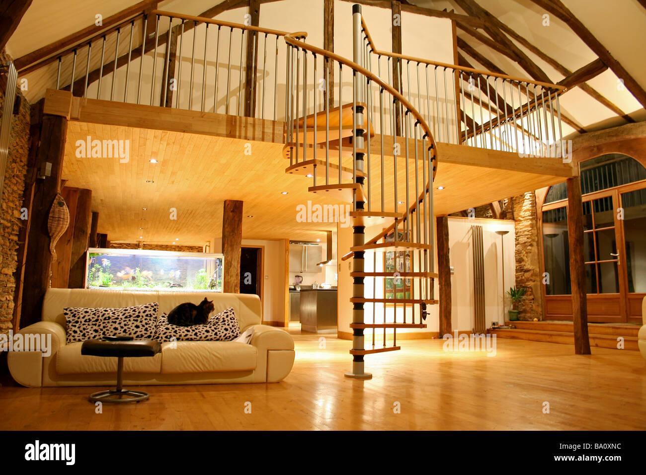 offene Treppe und mezzanine Stockfoto, Bild: 23377912 - Alamy