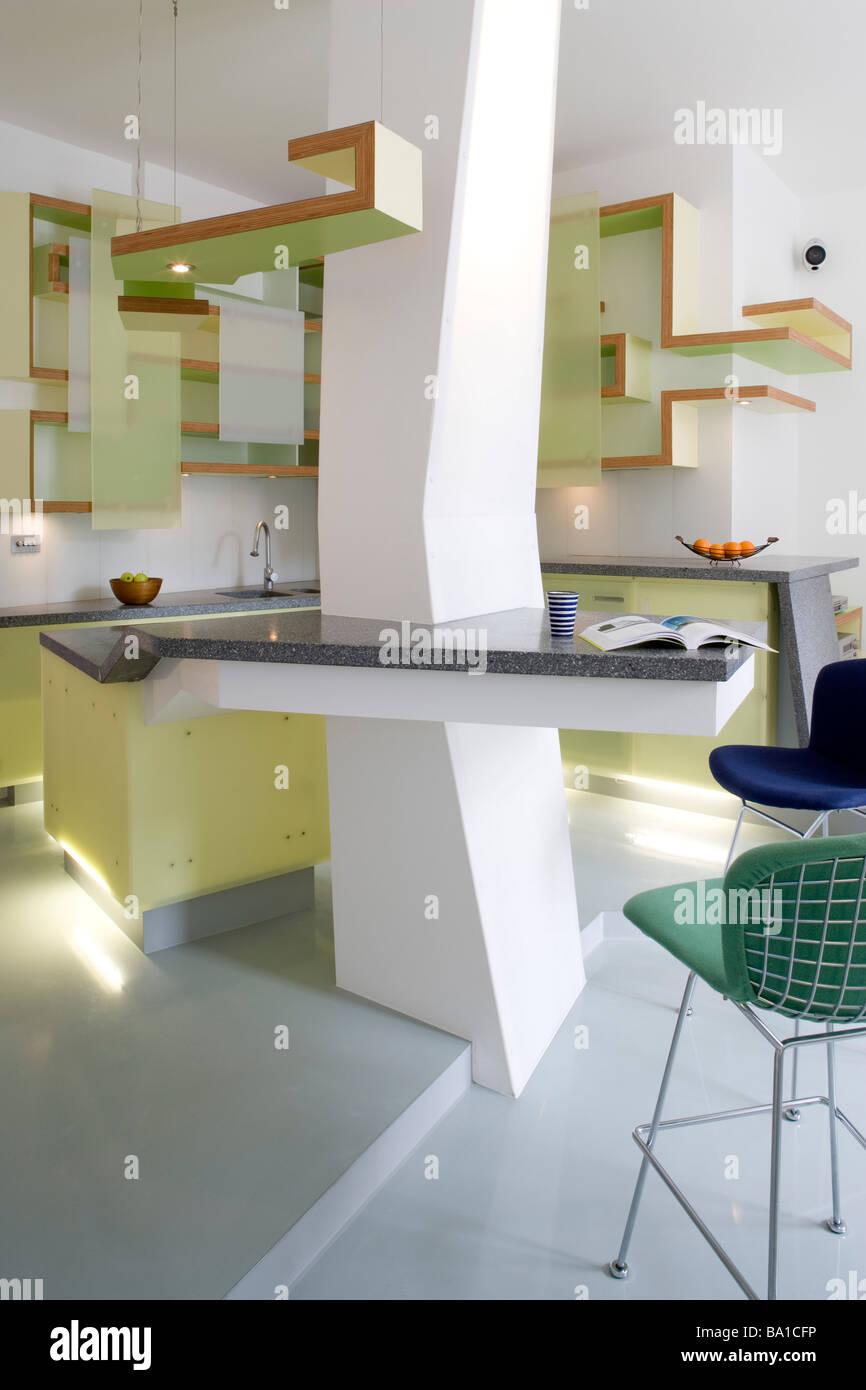 Interiors Modern Kitchens Shelving Stockfotos & Interiors Modern ...
