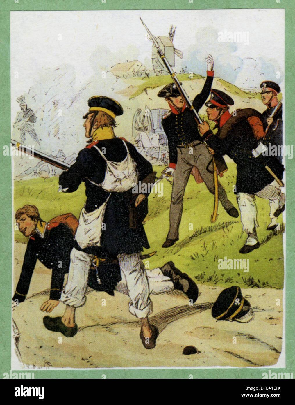 Ereignisse, Krieg der sechsten Koalition 1812 - 1814, Additional-Rights-Spiel-NA Stockbild