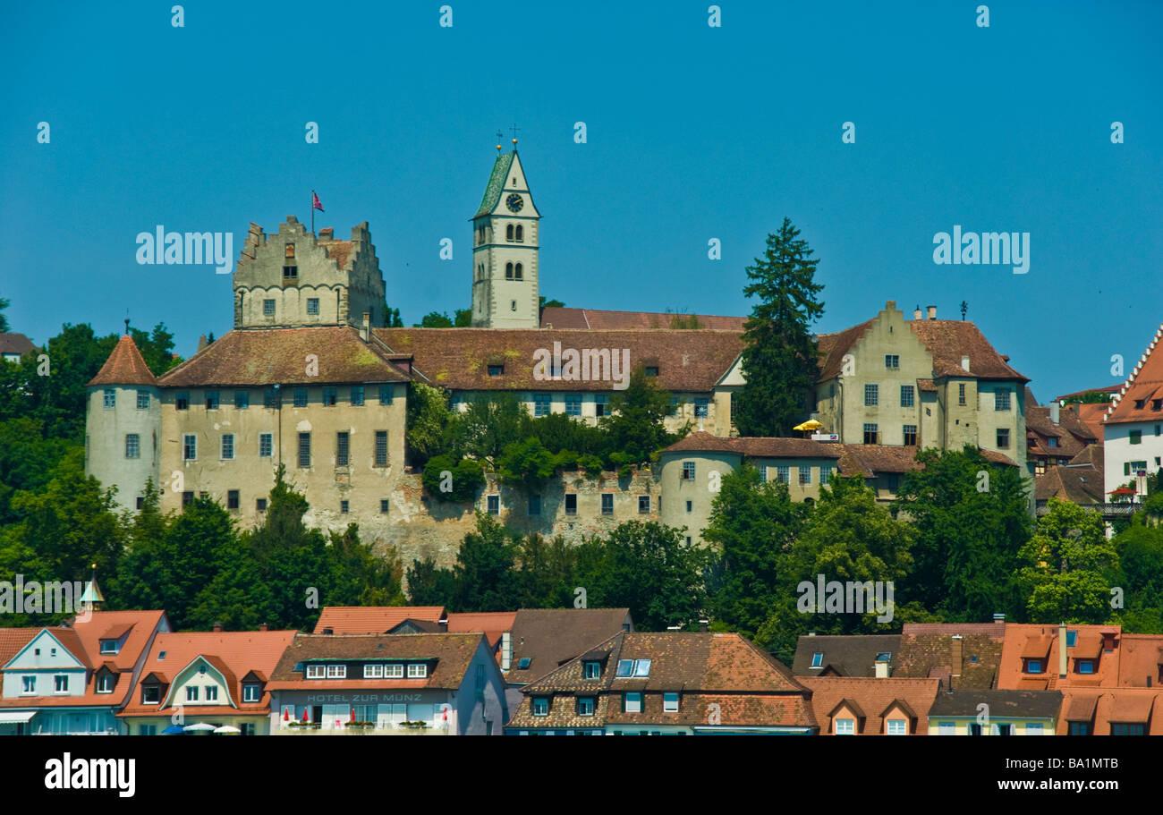 Burg Meersburg Altstadt See Bodensee Baden-Württemberg Deutschland | Meersburg, Historische Altstadt, Bodensee Stockbild