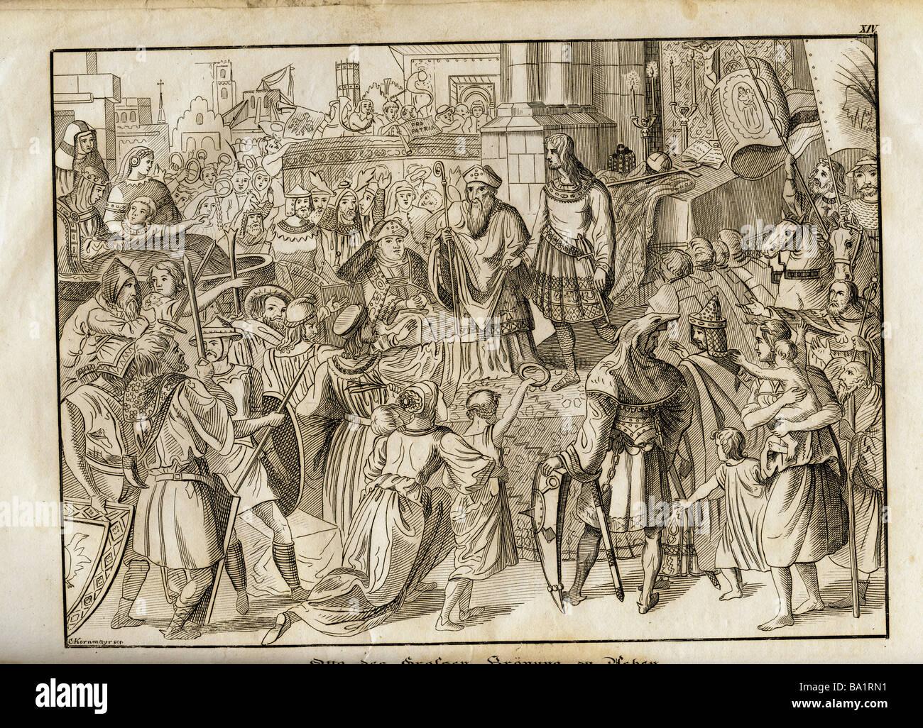"""Otto i. """"der große"""", 23.11.912 - 7.5.973, Kaiser des Heiligen Römischen Reiches 2.2.962 - 7.5.973, """"Otto der große Stockfoto"""