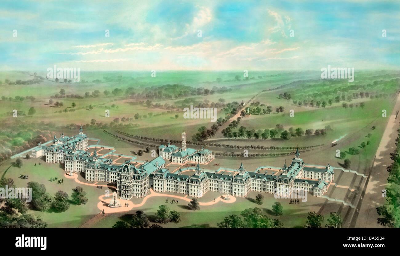 Staat Asyl für Geisteskranke, Morristown (New Jersey) später bekannt als Greystone Park Psychiatrie um Stockbild