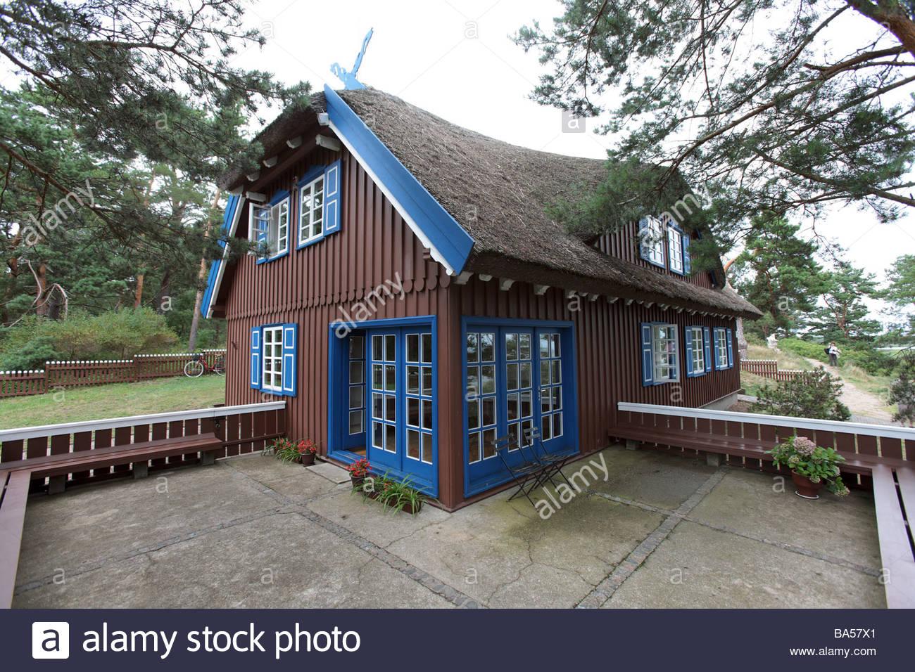 haus von thomas mann in nida kuroeiu nerija nationalpark auf der kurischen spucken in litauen. Black Bedroom Furniture Sets. Home Design Ideas